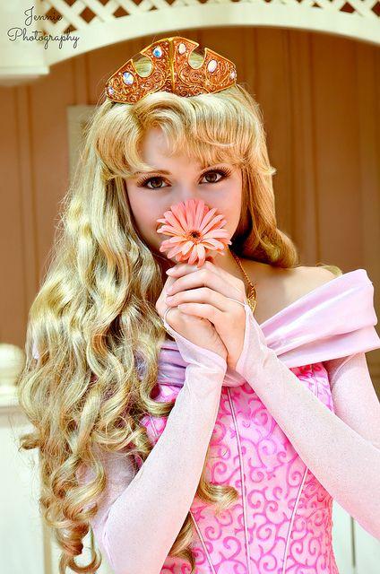 Aurora and her Flower