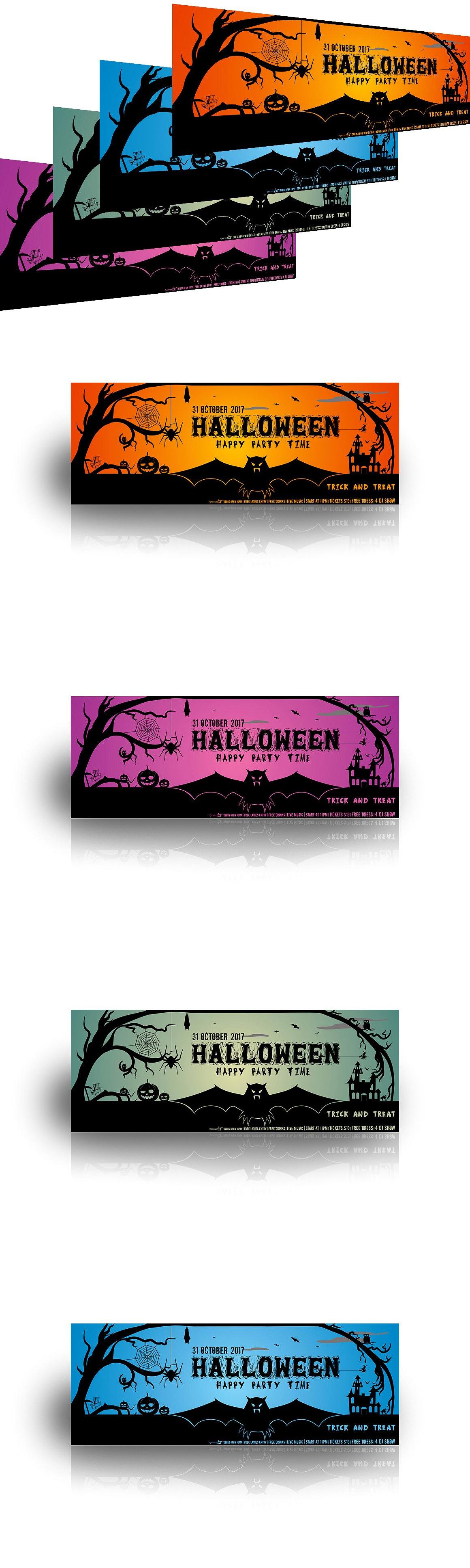 Halloween Party Facebook Cover | Facebook cover template, Social ...