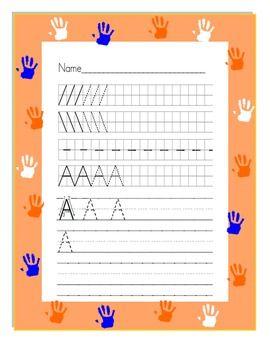 Handwriting Worksheets Practice Manuscript Style