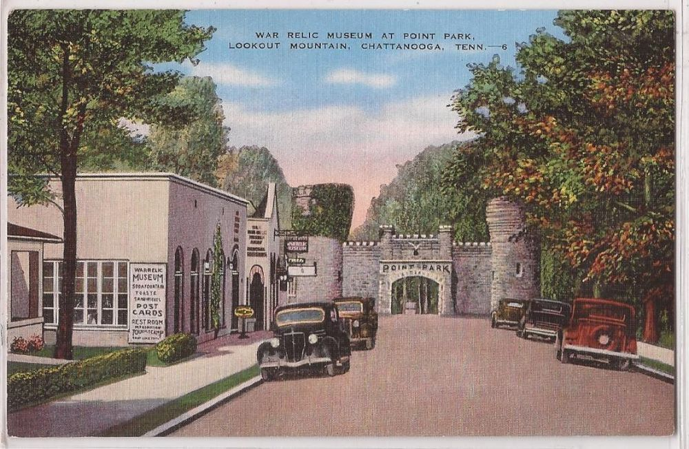 Chattanooga Tn Postcard War Relic Museum At Point Park Linen