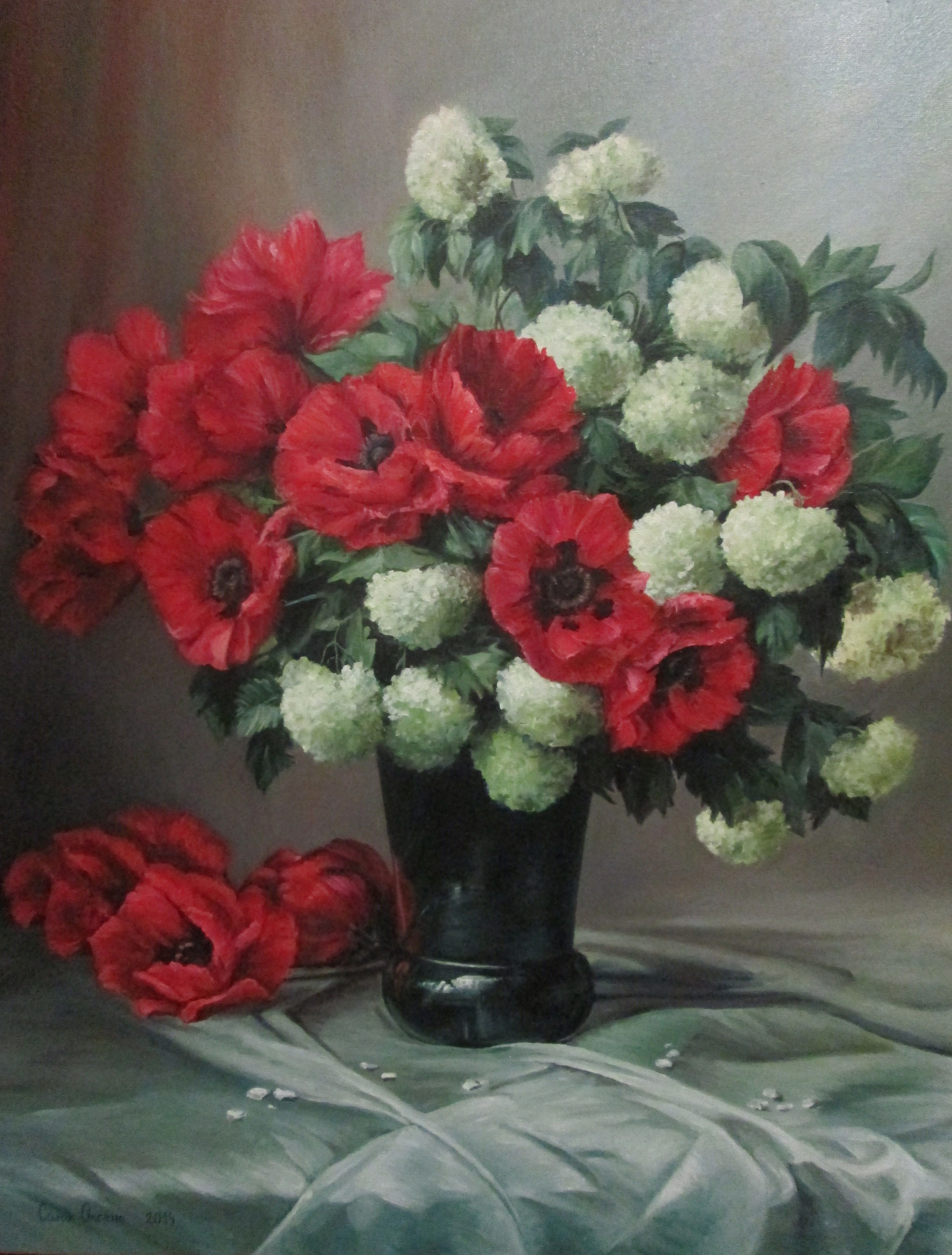 picture #draw #painting #art #oil #nature #stilllife #flowers ...