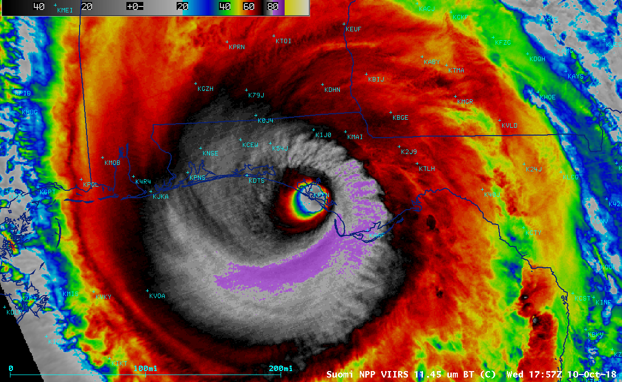 Hurricane Center Reclassifies Michael To Category 5 The First Such Storm To Make Landfall Since 1992 Hurricane Season Hurricane Atlantic Hurricane