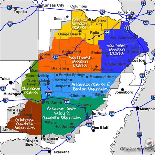 Maps maps and more maps of the Ozarks & Ouachita Mountains
