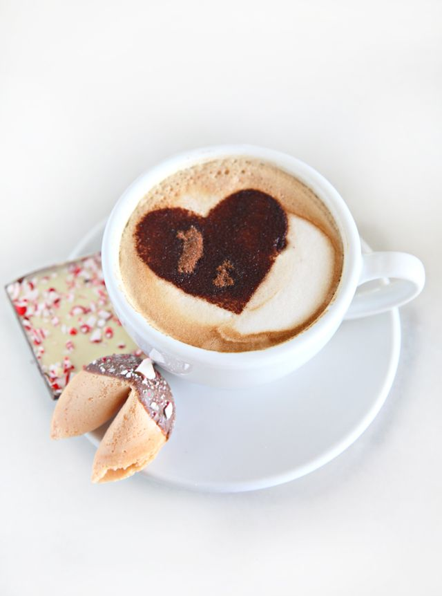 How To Make A Cuccino Heart Stencil Via Madeby