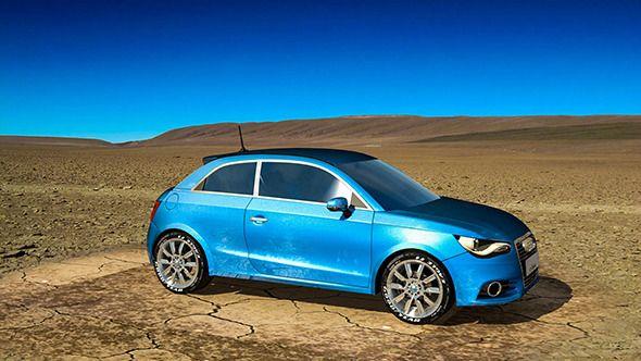 Audi A1. Car 3D model. #3D #3DModel #3DDesign #AudiA1 #AudiCar #BlueAudi #BlueCar #four-wheeler #RenderedVehicle #SmallAudiCar #SmallCar