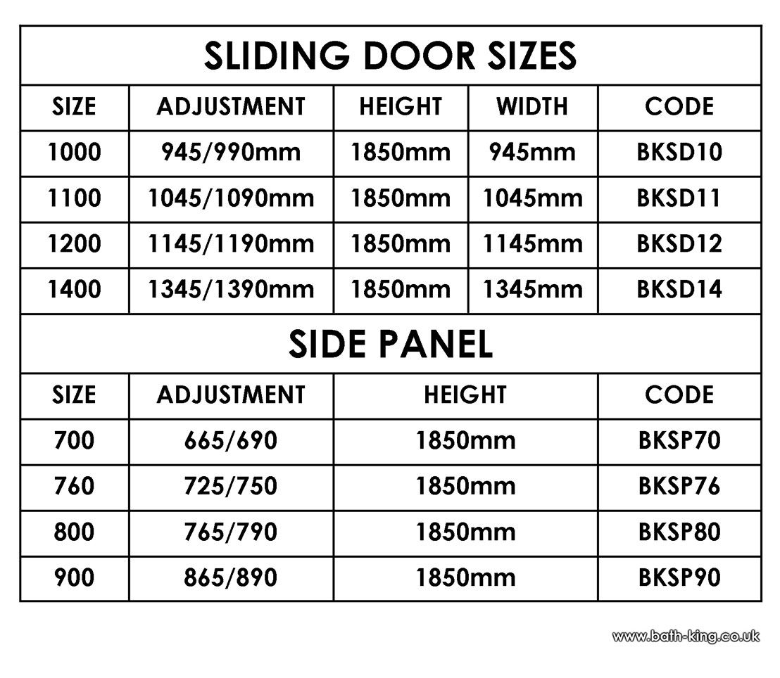 standard sliding glass door size