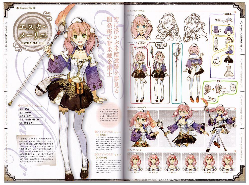 Exploring Character Design Pdf : Atelier escha logy google search ref pinterest