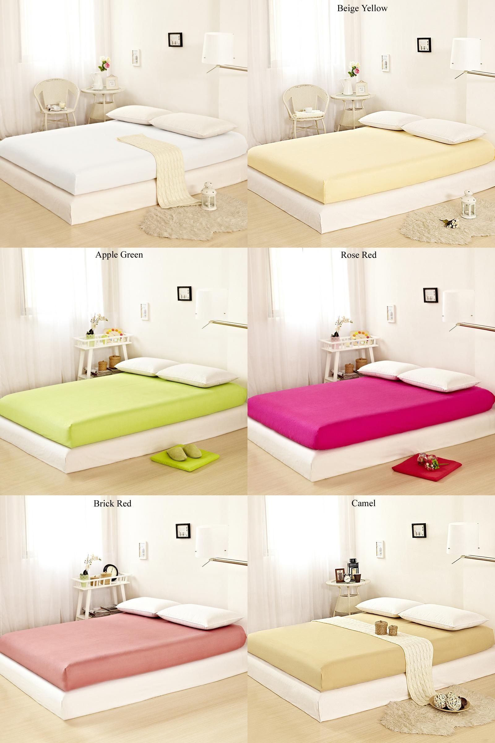 visit to buy home textile 1pcs fitted sheet solid color bed sheet