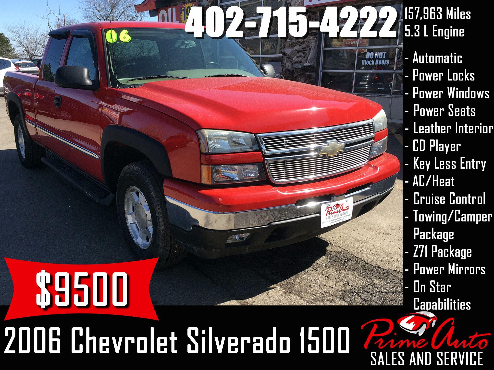 2006 Chevrolet Silverado 1500 Lt Call Us Today 402 715 4222