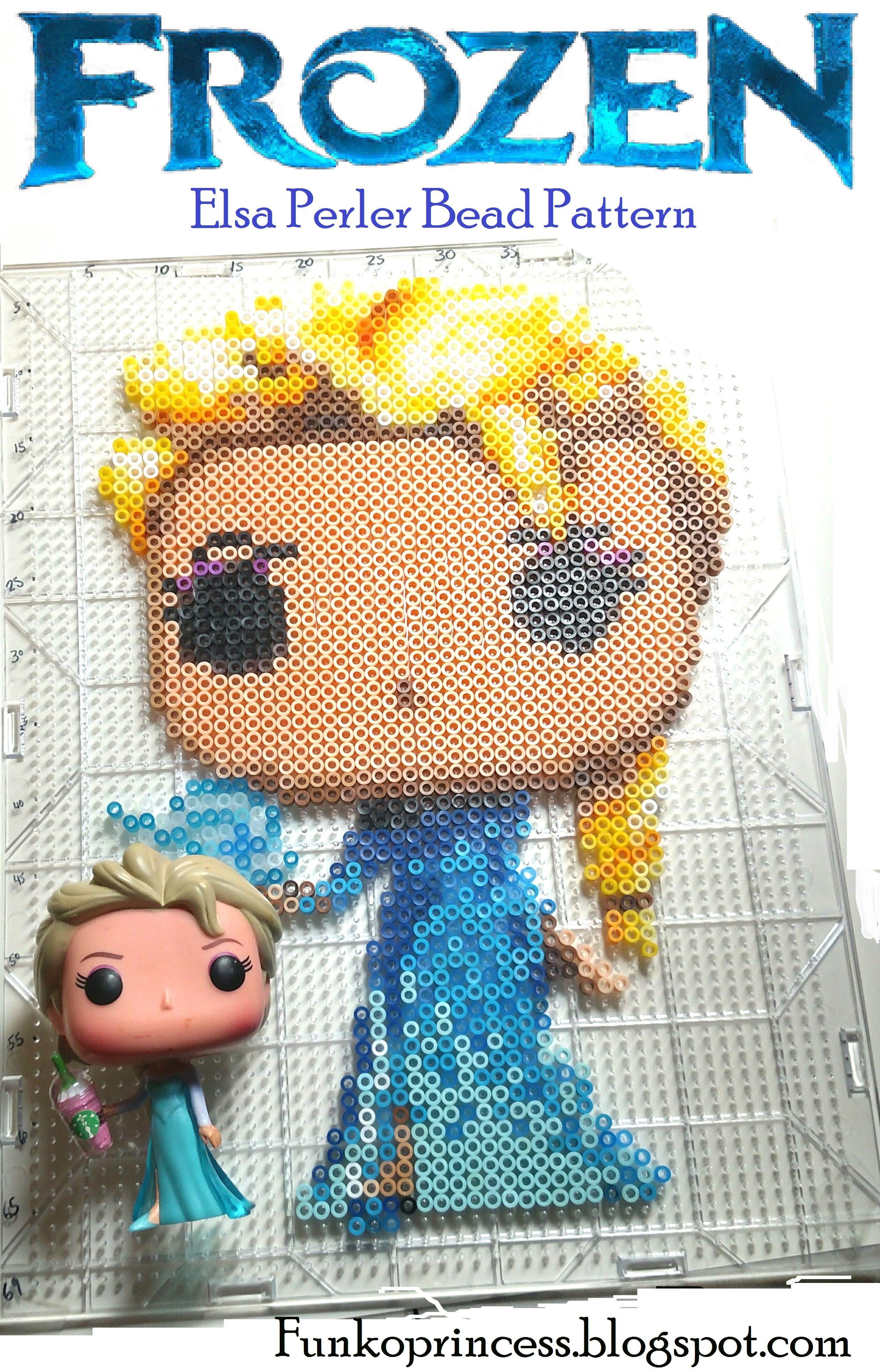 Frozen Elsa Perler Bead Pattern Funko Pop Craft Funko Disney
