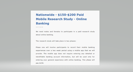 Picture Of Nationwide 150 200 Paid Mobile Research Study