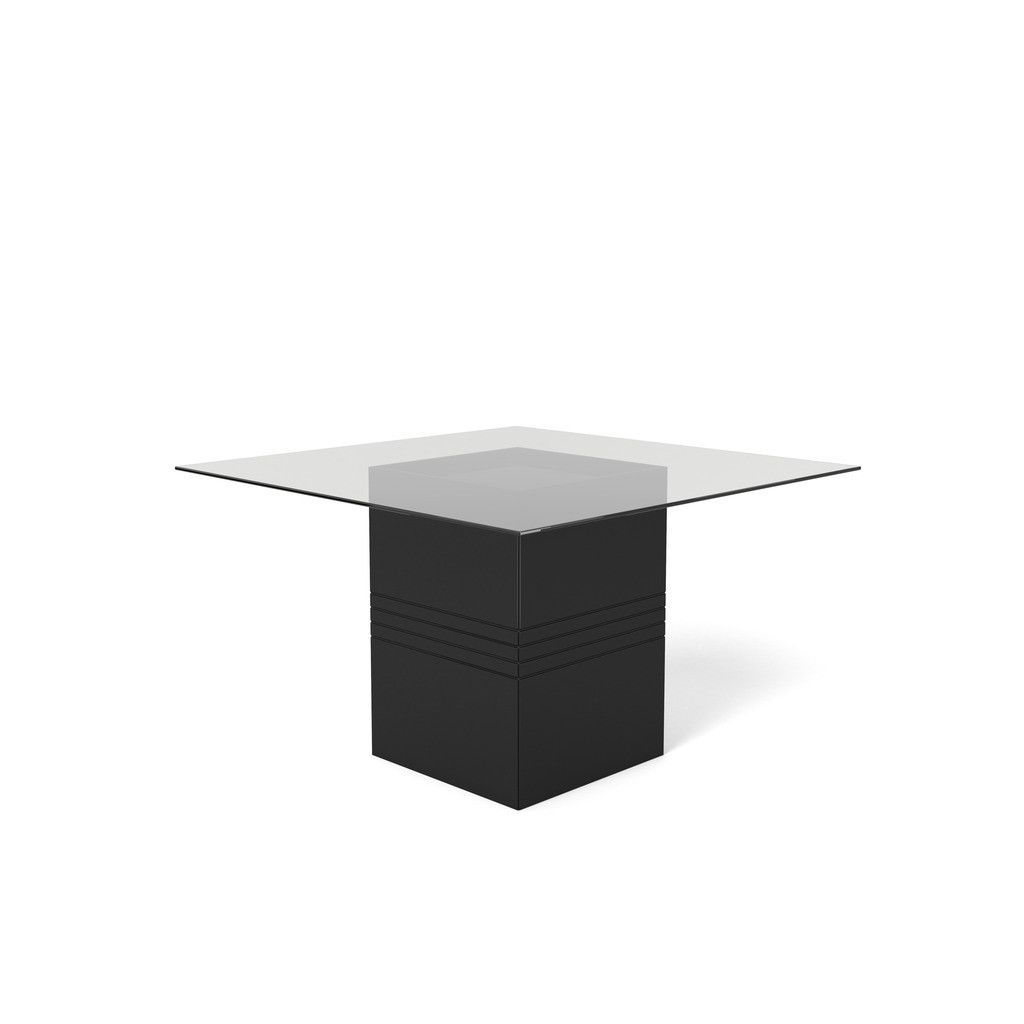 Manhattan Comfort Perry 1 8 55 12 In Sleek Tempered Glass Table