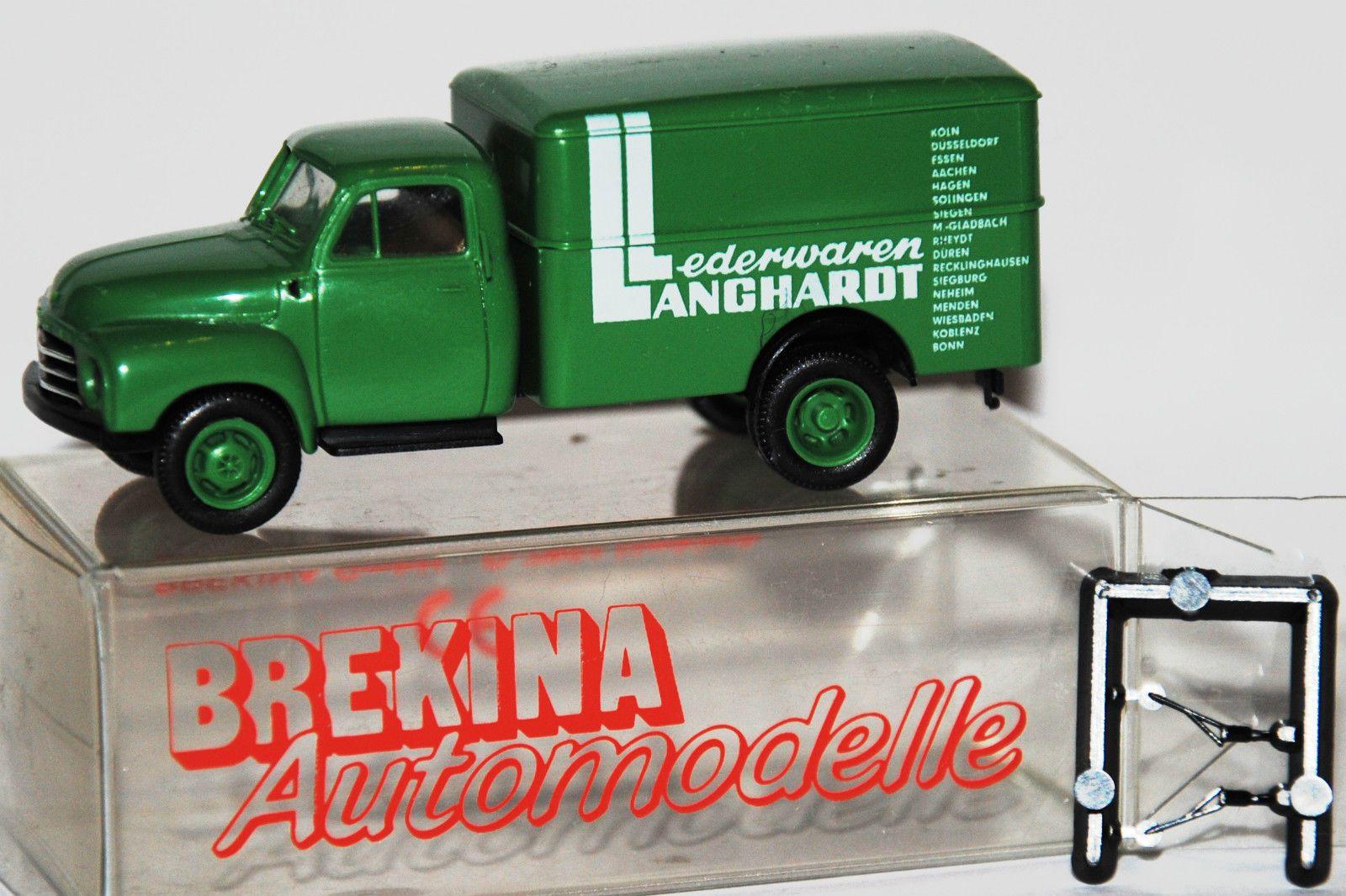 1:87 Brekina Opel Blitz Kofferaufbau Lederwaren Langhardt RAR H0 | eBay