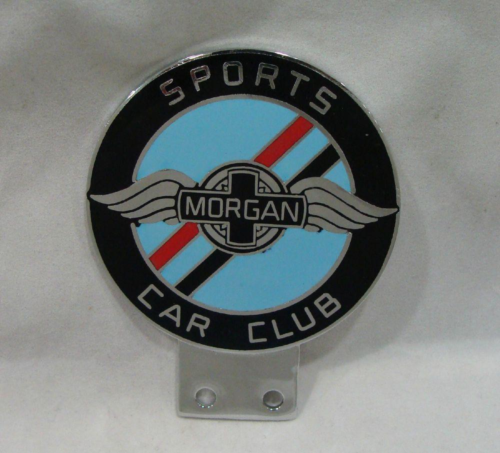 RARE Morgan Sports Car Club Car Badge