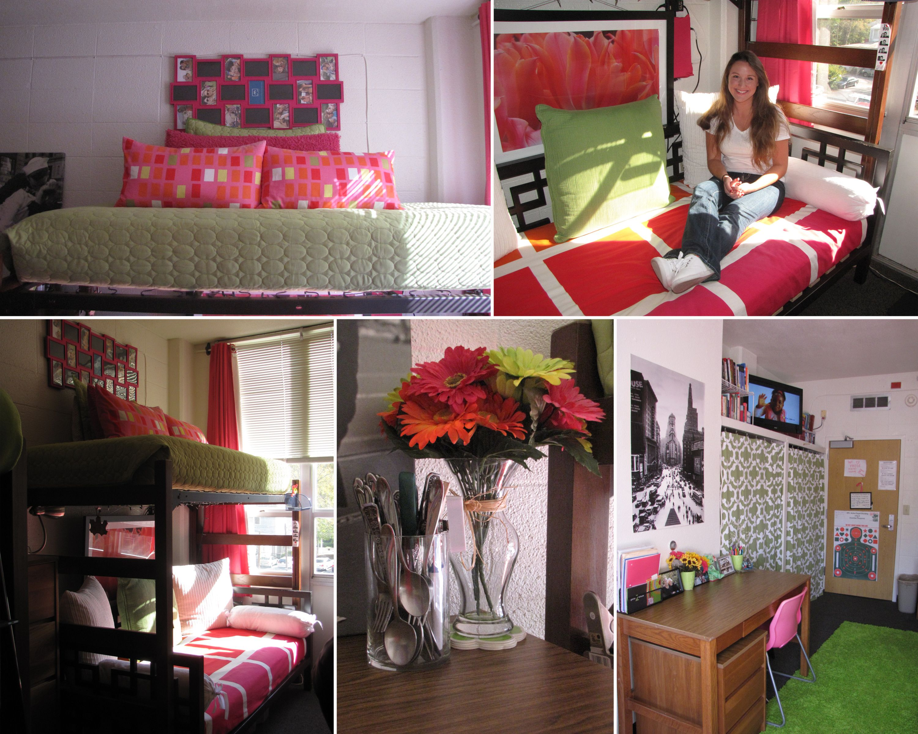 A great window view inspired flowers and bright hues of - Interior design colleges in georgia ...