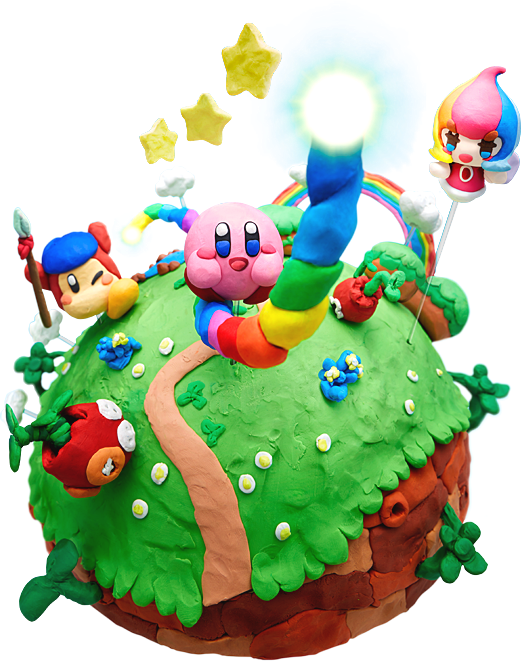 Kirby S Cake The New Kirby And The Rainbow Curse Is Out If U Kirby Kirby Games Fun Games For Kids