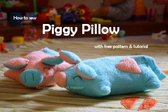 Piggy Pillow - Free Sewing Pattern & Tutorial | Šitie