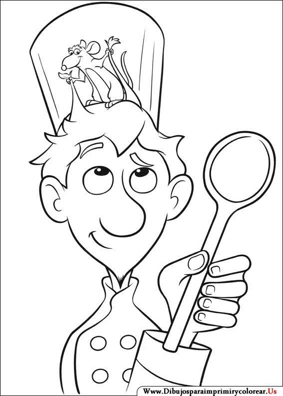 Dibujos de Ratatouille para Imprimir y Colorear | Coloring Pages ...