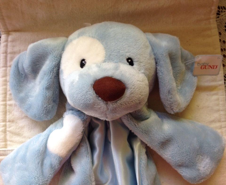 Baby Gund HUGGYBUDDY Blue Puppy Dog