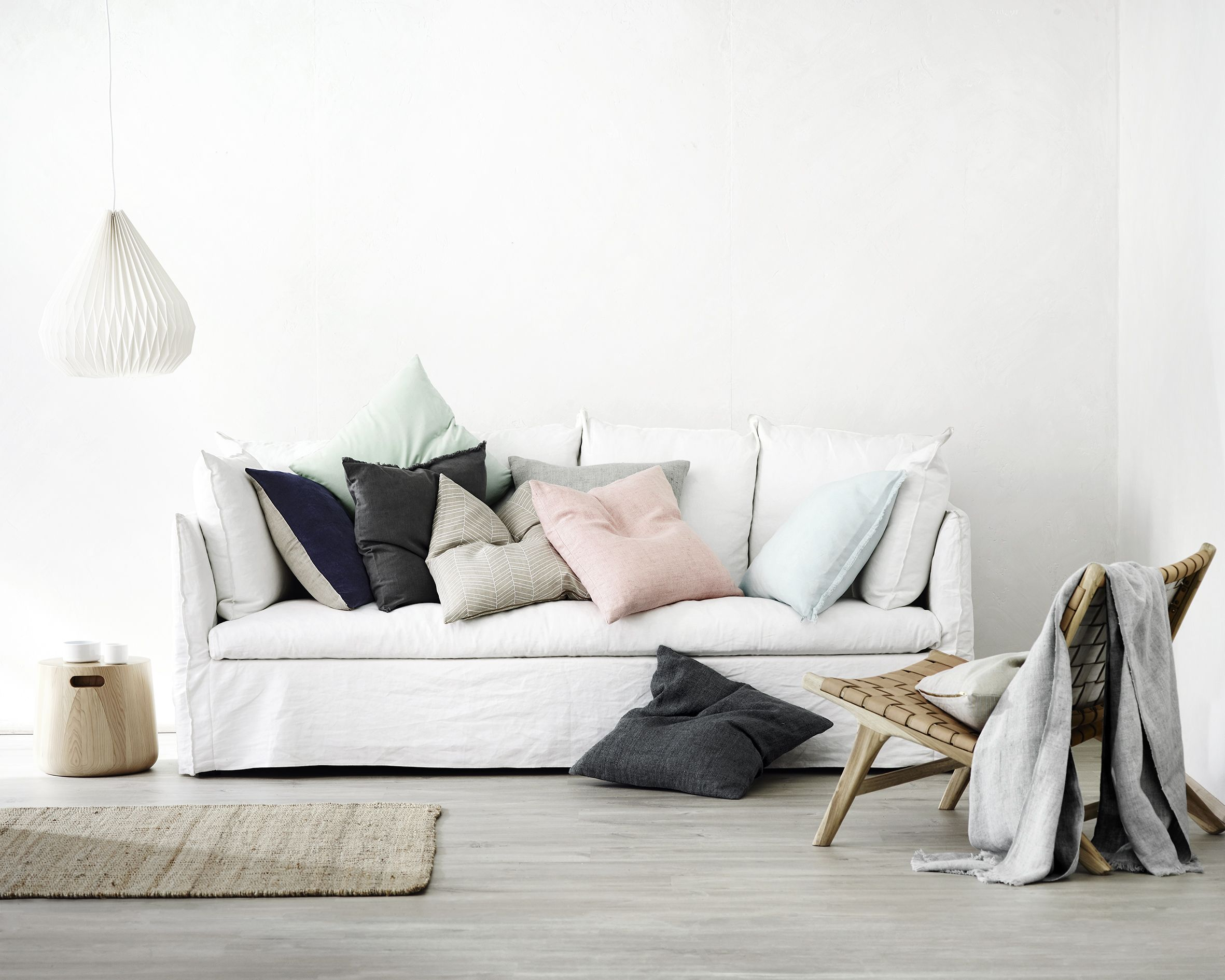 Dusty and earthy cushions and throws AURA Home SS16 17 collection