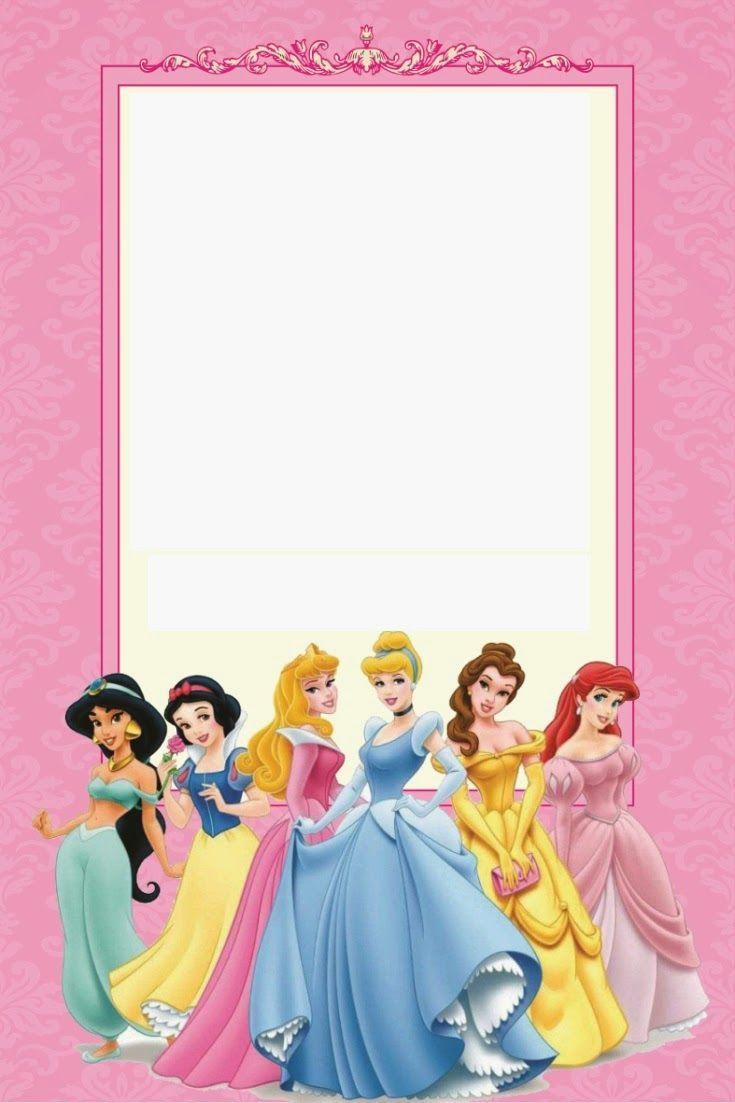 free printable disney princess ticket