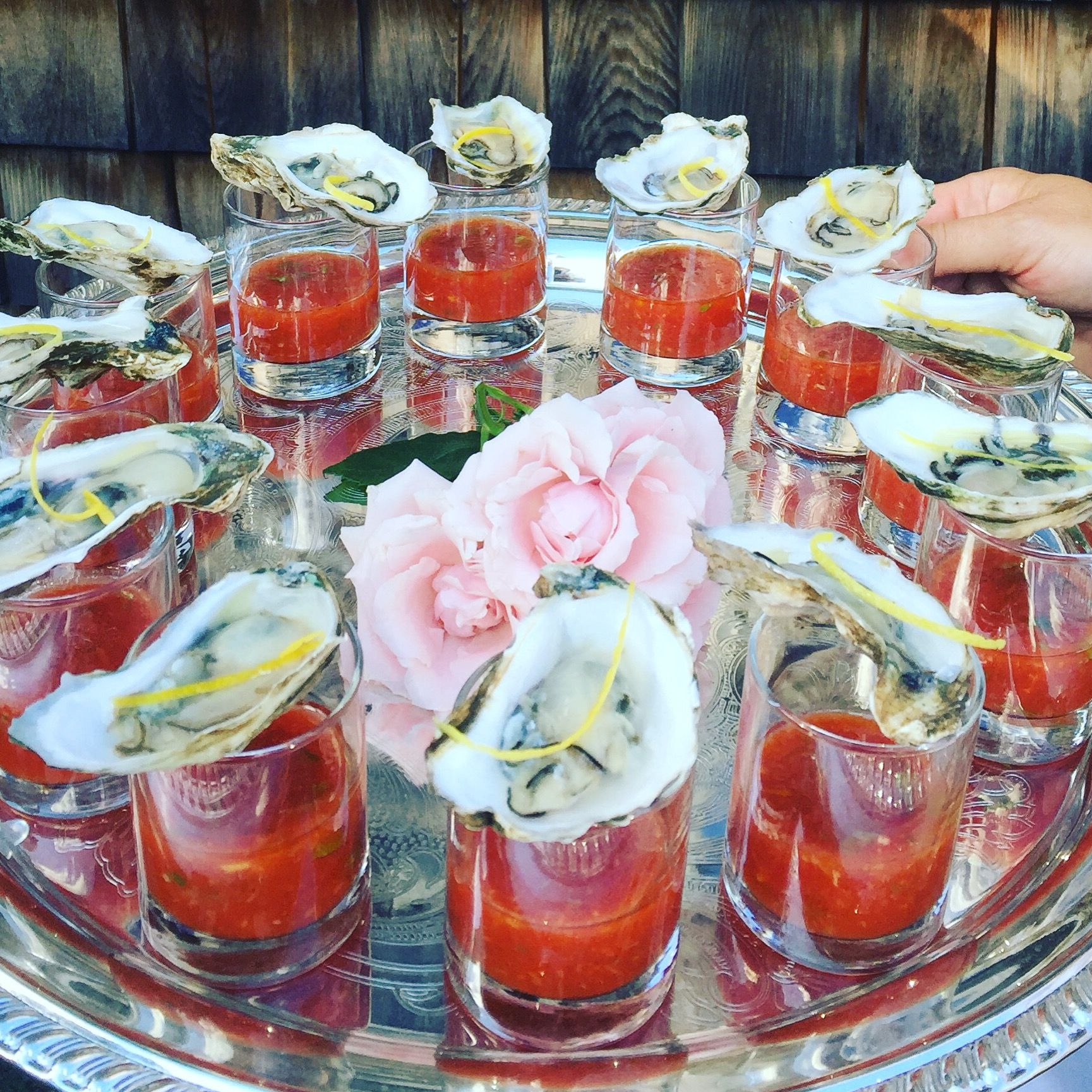 Oyster Shooters By Relish Catering Oyster Shooter Hors D Oeuvres Oysters