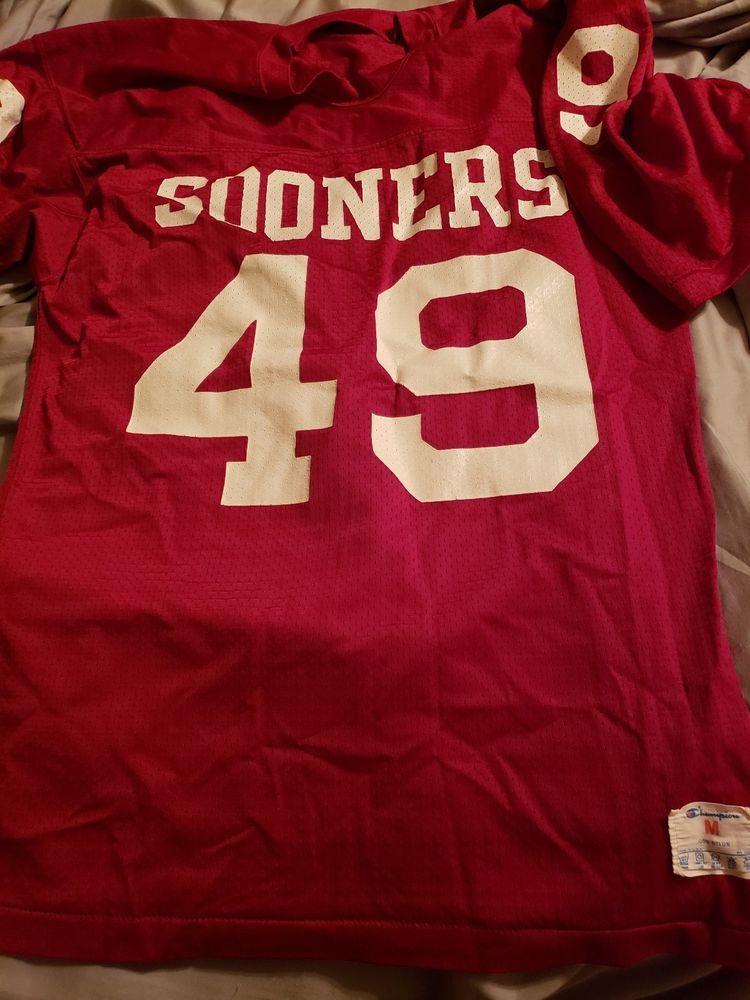 Lot Of 3 Oklahoma Sooners 1980s  90s replica or practice jerseys  (eBay Link ) c690b112b