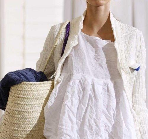 Tunique En Lin Blanc Vetement En Lin S Habiller Mode
