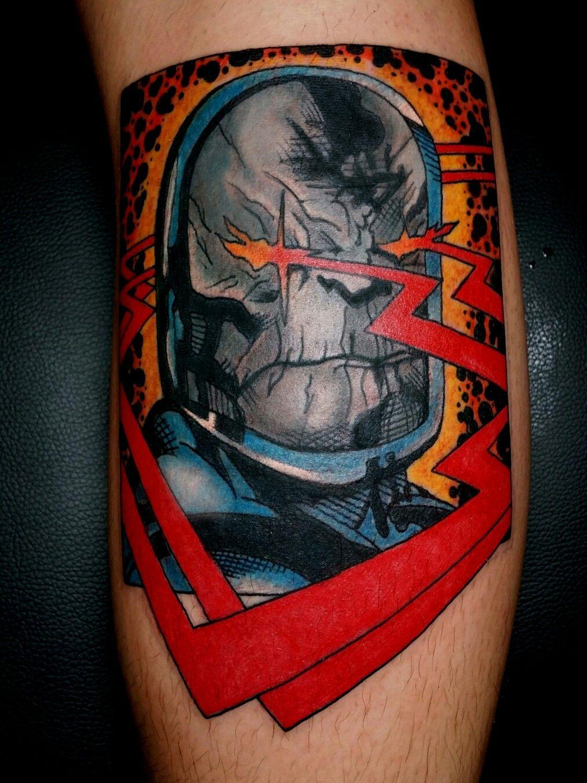 Darkseid dc comics justice league tattoo by steve rieck