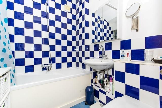 Blue And White Chequered Bathroom Tiles Check Out This Property For - Blue and white tiles for sale