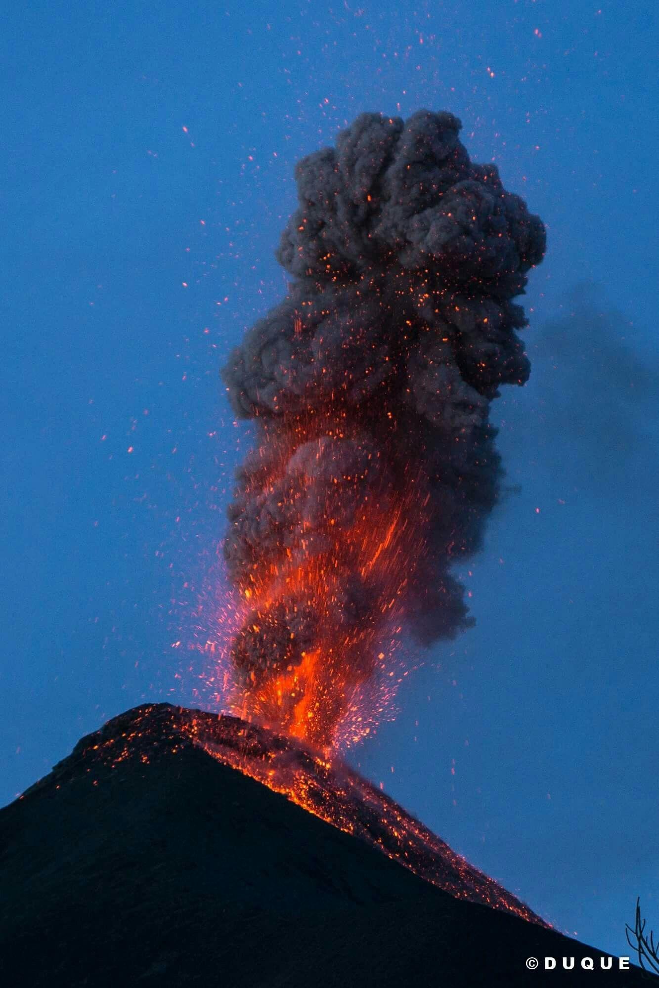 Volcán De Fuego Guatemala VOLCANIC ERUPTIONS Pinterest - Incredible neon blue lava flames erupt volcano