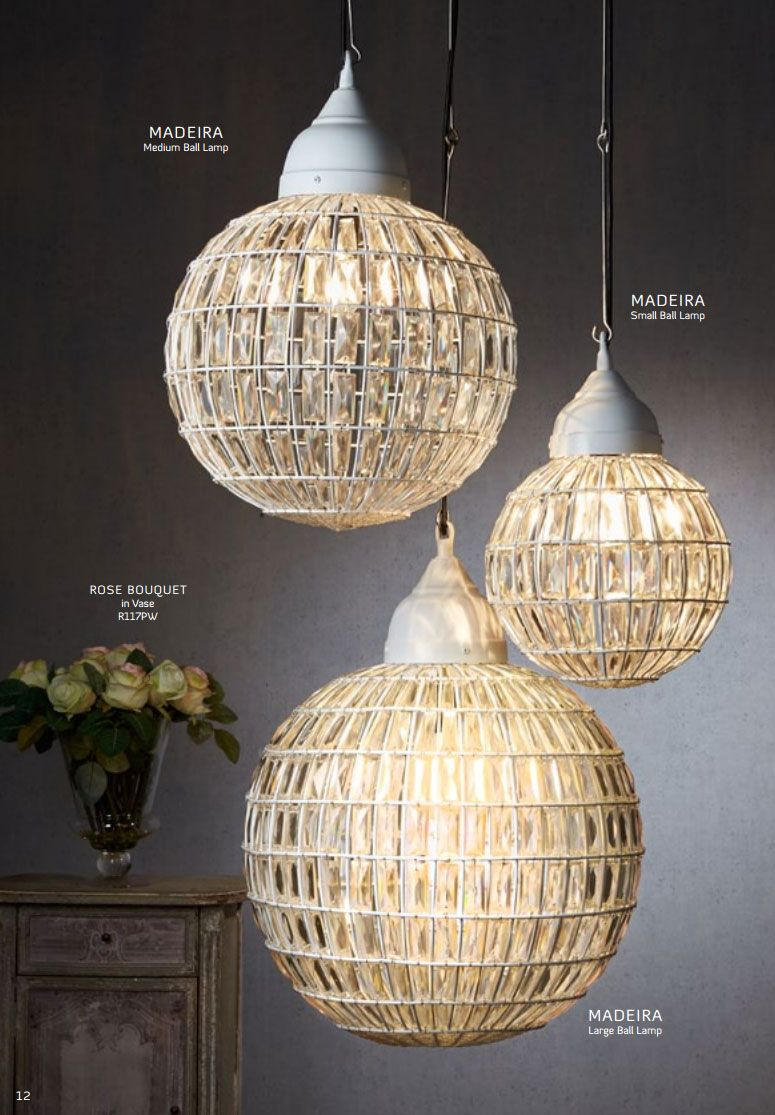 Emac Features Madeira Small Ball Lamp The stunning Madeira Ball Lamp evokes a sense of grandeur in its design. The unique globe design creates a stunning focus point for your room.  Product Code (ELJE13728)  Dimensions Diameter: 25cm Height: 40c