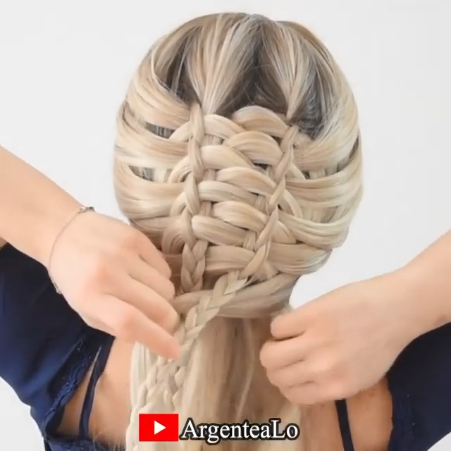 UNIQUE BRAIDED HAIRSTYLE TUTORIAL