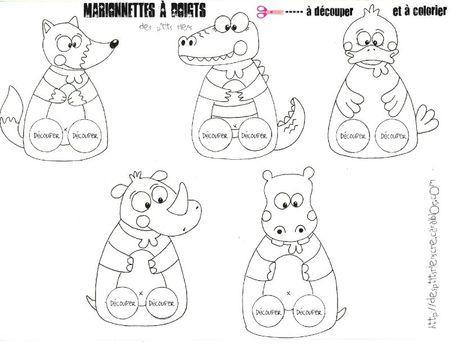 marionnettes doigts animaux colorier blogs a l elementaire les meilleurs pinterest. Black Bedroom Furniture Sets. Home Design Ideas