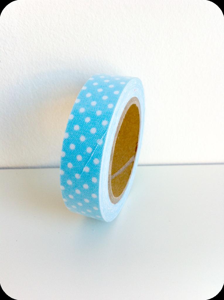 Fabric tape lunares fondo celeste - Shop We Love Parties Bcn