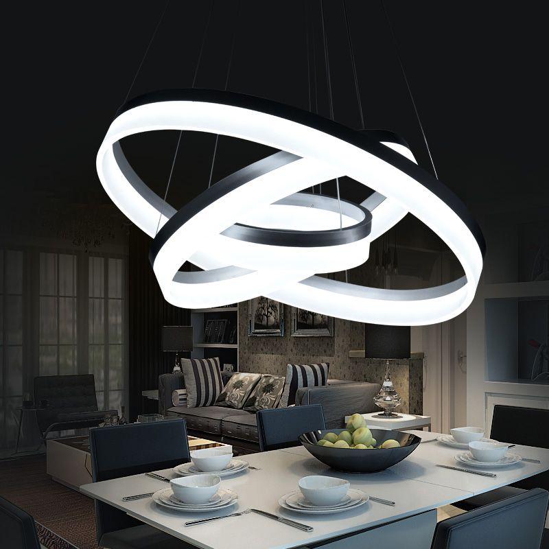 Hanging Modern LED Ring circles Pendant Lights lamp for living