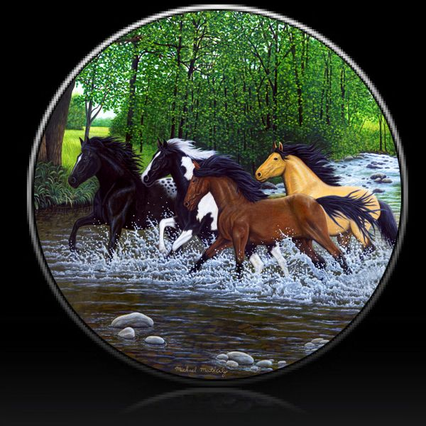 Horse Free Spirits Spare Tire Cover Tire Cover Spare Tire