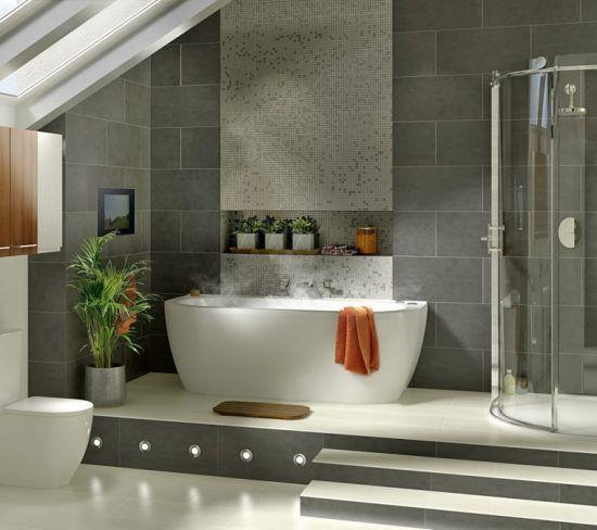 Baño con ducha y bañera arquitectura Pinterest Baño con ducha