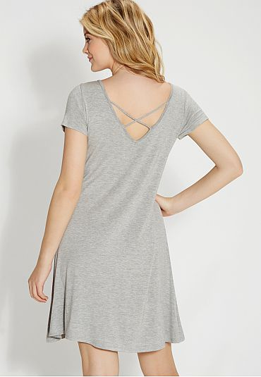 t-shirt dress with strappy back (original price, $29) available at #Maurices