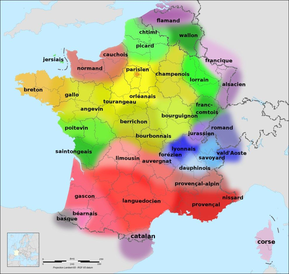 Maps That Will Change How You See France Regional And Language - Changing world language map