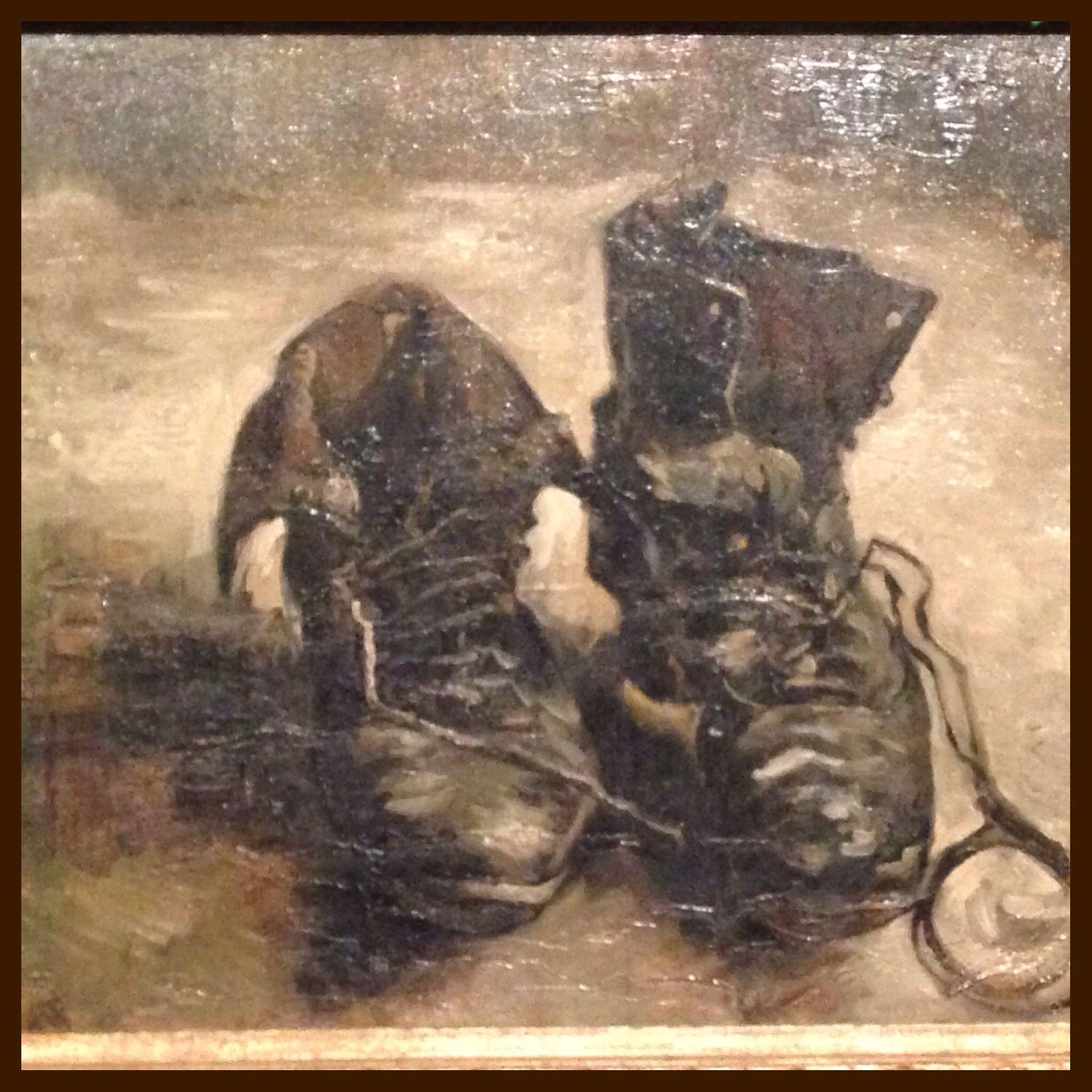 1886 Nel Realizzato Dipinto È Un Su A Di Olio Tela Paio Scarpe 6qF6WvTPz