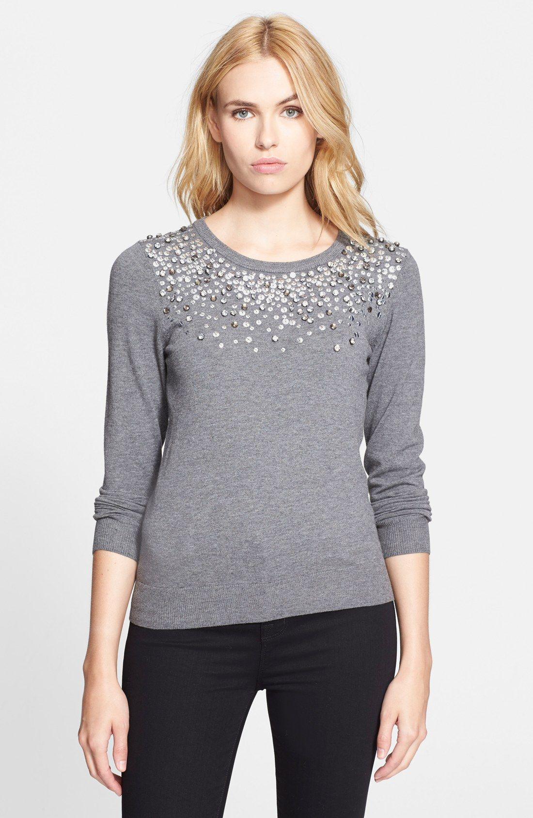Captived Sparkly Sequins And Rhinestones Milly Sweater. Fall Fashion