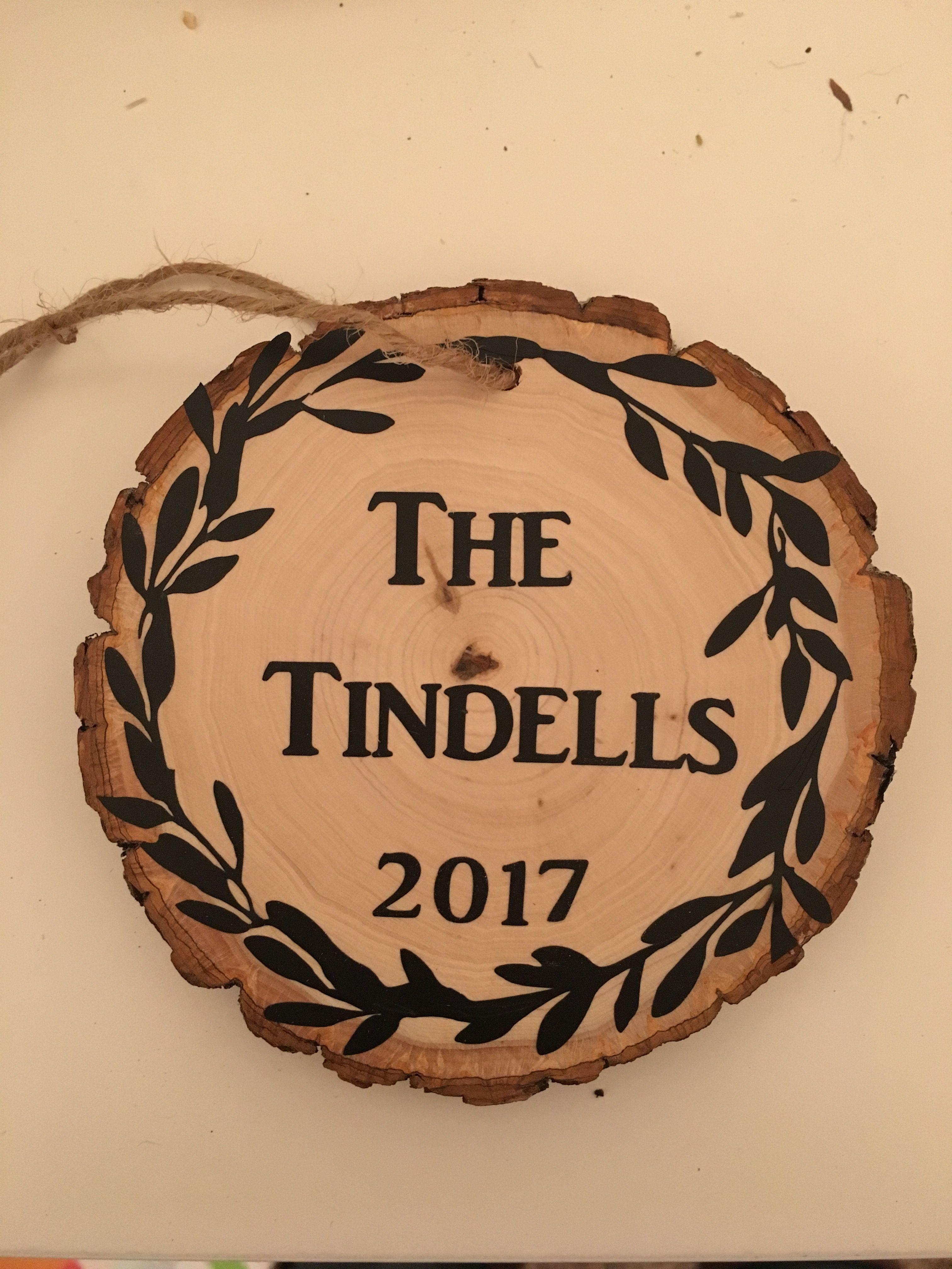 Personalized wooden christmas ornament cricut pinterest wooden