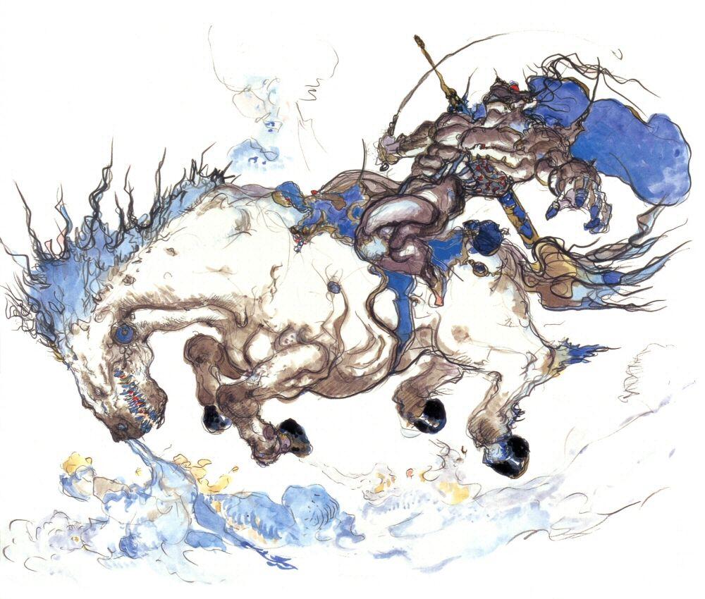 Final Fantasy VI - Raiden Concept Art - Yoshitaka Amano