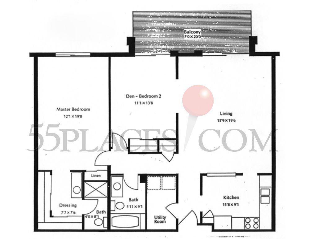 1200 square foot one story floor plan 1200 1 200 sq for 1200 sq ft house plans 2 floor