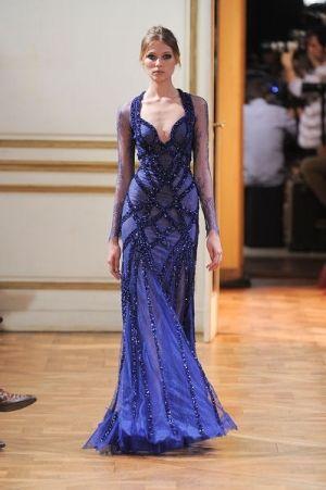 فستان من الشيفون الازرق المطرز Evearabia Royal Blue Evening Dress Soiree Dress Evening Dresses Online