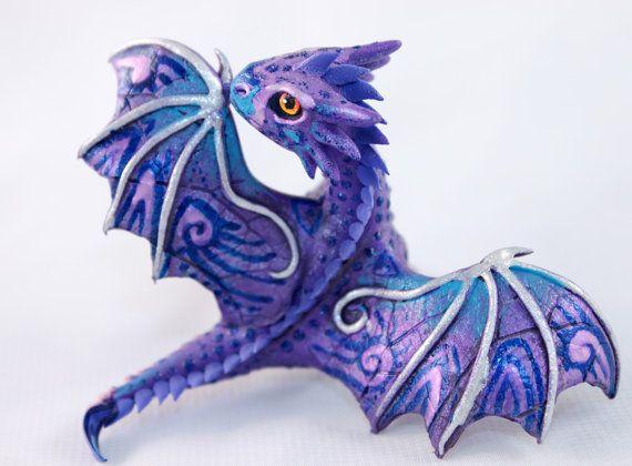 little dragon cute lavender purple oriental dragon fantasy art