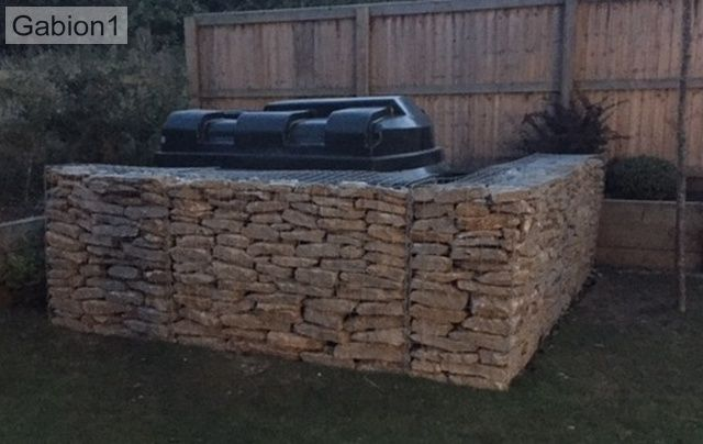 gabion privacy screen in garden http\/\/wwwgabion1uk Gabion
