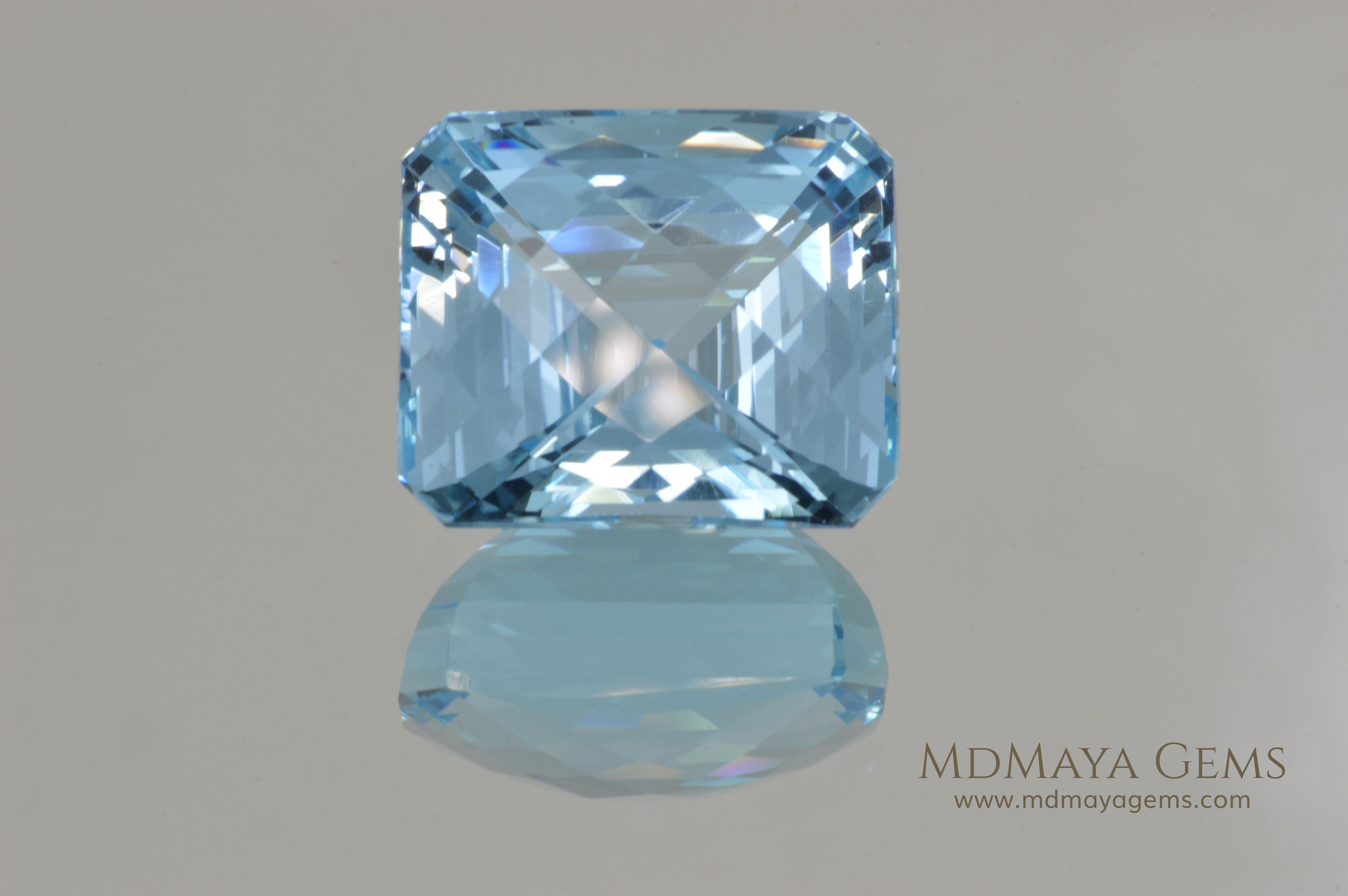 Genuine Large Blue Topaz. Fancy Cut. 42.70 ct. Exceptional Fine Fabulous Large Blue Topaz. Simply Gorgeous!