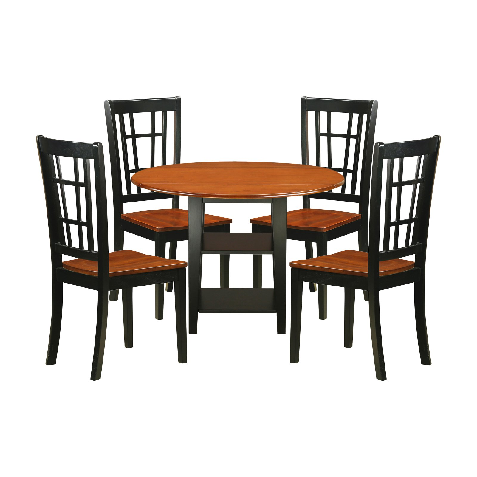 Silver Dining Table And Chairs, East West Furniture Sudbury 5 Piece Dual Drop Leaf Dining Table Set With Lattice Back C Solid Wood Dining Set Dining Table Dimensions Breakfast Nook Dining Set